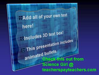 3D BLUE SPACE POWERPOINT ADD-YOUR-OWN-TEXT TEMPLATE