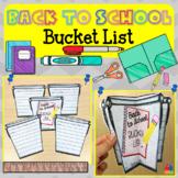 3D Back to School Bucket List [Goal Setting]