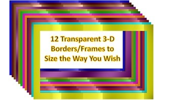 Digital Papers and Transparent Borders Frames Mega Pack