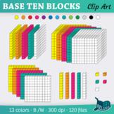 3D Base Ten Blocks Clip Art – 13 Colors