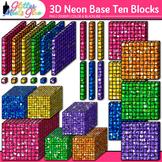 3D Base Ten Blocks Clip Art: Counting Graphics 2 {Glitter Meets Glue}