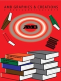 3D Book and Book Stack Clip Art Graphics - Assorted Colors