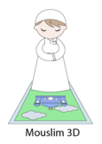 3D Boy & praying rug (Mouslim)