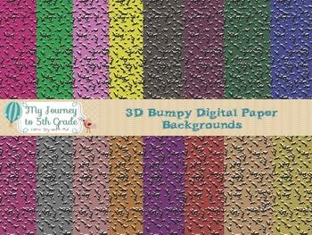 3D Bumpy Digital Paper Background