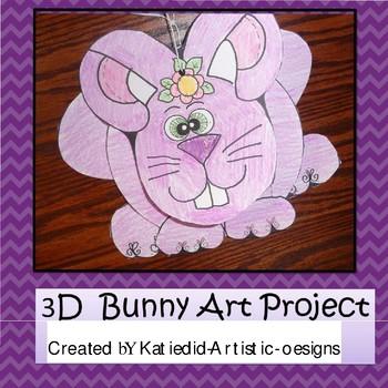 Spring Bunny 3D Craft