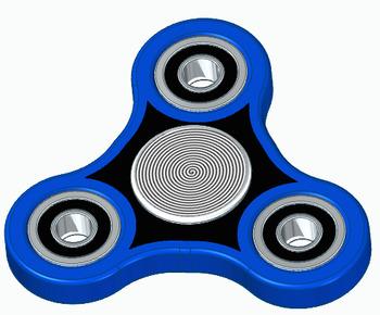 3D CAD Fidget Spinner Tutorial