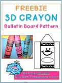 3D CRAYON Bulletin Board Display Freebie