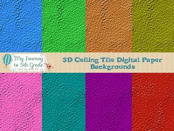 3D Ceiling Tile Digital Paper Background
