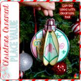 Place Value 3D Christmas Ornament