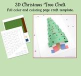 3D Christmas Tree Craft Template