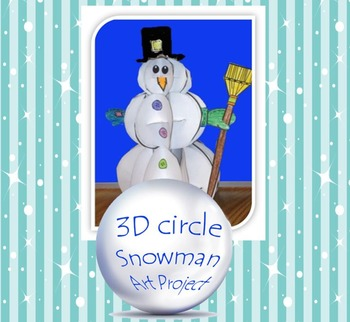 3D Circle Snowman Art Project