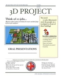 3D City Project, Jobs, Directions