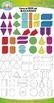 3D Colorful Shapes / Geometric Solids Clipart {Zip-A-Dee-Doo-Dah Designs}