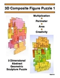 3D Composite / Irregular Shape Array Puzzle, Perimeter & Area Combine Rectangles