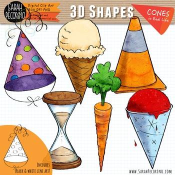 3D Cones in Real Life Clip Art
