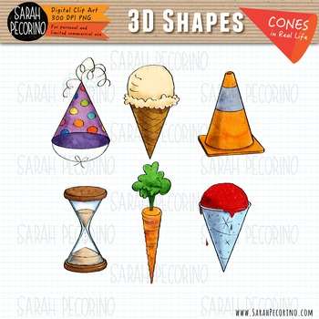 3d cones in real life clip art by sarah pecorino illustration tpt