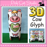 Valentine's Day Glyph and Greeting Card - Cow Valentine's