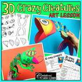 3D Crazy Creatures - Art Lesson Plan