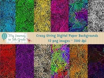 3D Crazy String Digital Paper Backgrounds