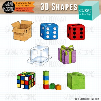 3D Cubes in Real Life Clip Art