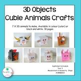 3D Cubie Craft - 3D Craft Farm Animals