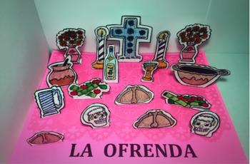 3D Cut & Paste Ofrenda for Día de Muertos (Day of the Dead)