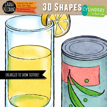3D Cylinders in Real Life Clip Art
