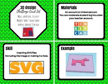 3D Design Card Set: Importing .SVG files + Get to Know you Design Challenge!