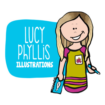 3D Dice Clip Art (Lucy Phyllis Illustrations)