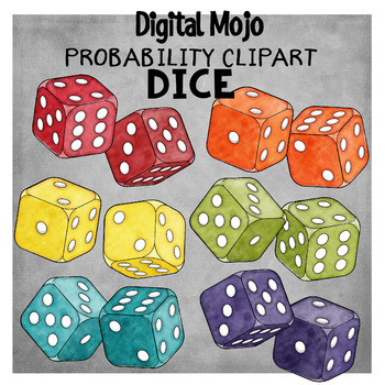 Probability Clipart Bundle (Spinners, Marbles and Dice)
