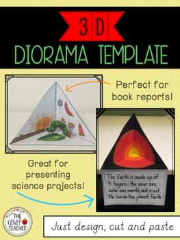 3D Diorama/Triorama Template