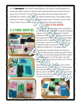 3D Dream Backyard: An Engineering Design Challenge using Area & Perimeter