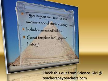 3D EGYPTIAN POWERPOINT ADD-YOUR-OWN-TEXT TEMPLATE