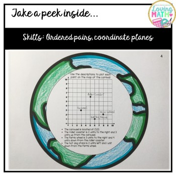3D Earth Day Math Craft - Coordinate Planes