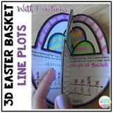 3D Easter Math Craft - Line Plots with Fractions