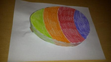 3D Easter egg color, cut, and paste project