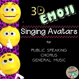 Back to School 3D Emoji Avatar Singing Posters