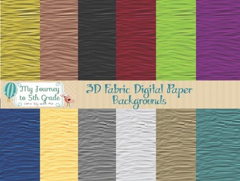 3D Fabric Digital Paper Backgrounds