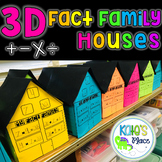 3D Fact Family House Craft