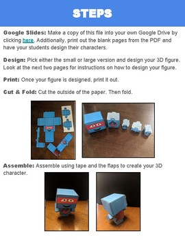 3D Figure Activity (Editable in Google Slides)