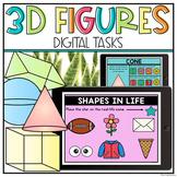 3D Figures | 3D Shapes - Kindergarten & First Grade | Google Classroom Digital