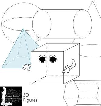3D Figures Clip Art