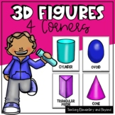 "3D Figures ""Four Corners"" Game"