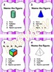 3D Figures Geometry Task Cards