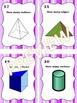 3D Figures Geometry Task Cards