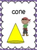 3D Shapes (3D Figure) Posters: Pirate Kids Theme