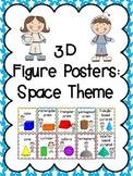 3D Shapes (3D Figure) Posters: Space Kids Theme