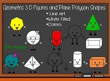 3D Figures and Plane Polygon Shapes - BIG BUNDLE