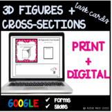 3D Figures and Their Cross-Sections  Task Card and Posters