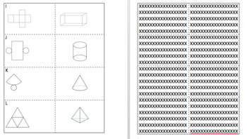 3D Figures and Their Nets Memory Match Game